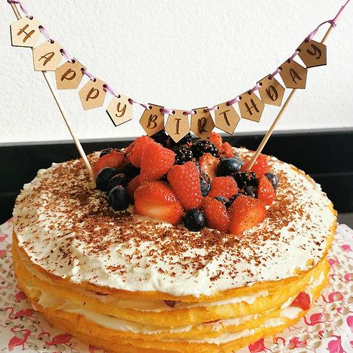 """Girlande Caketopper """"Happy Birthday"""""""