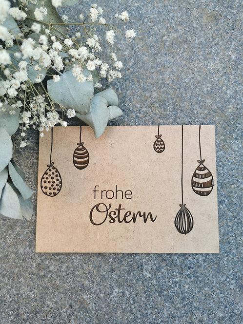 """Holz-Osterkarte """"Frohe Ostern"""""""