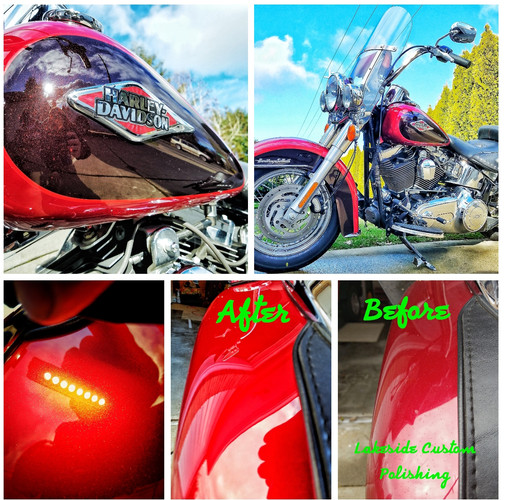 Harley Herritage Softail Paint Correction