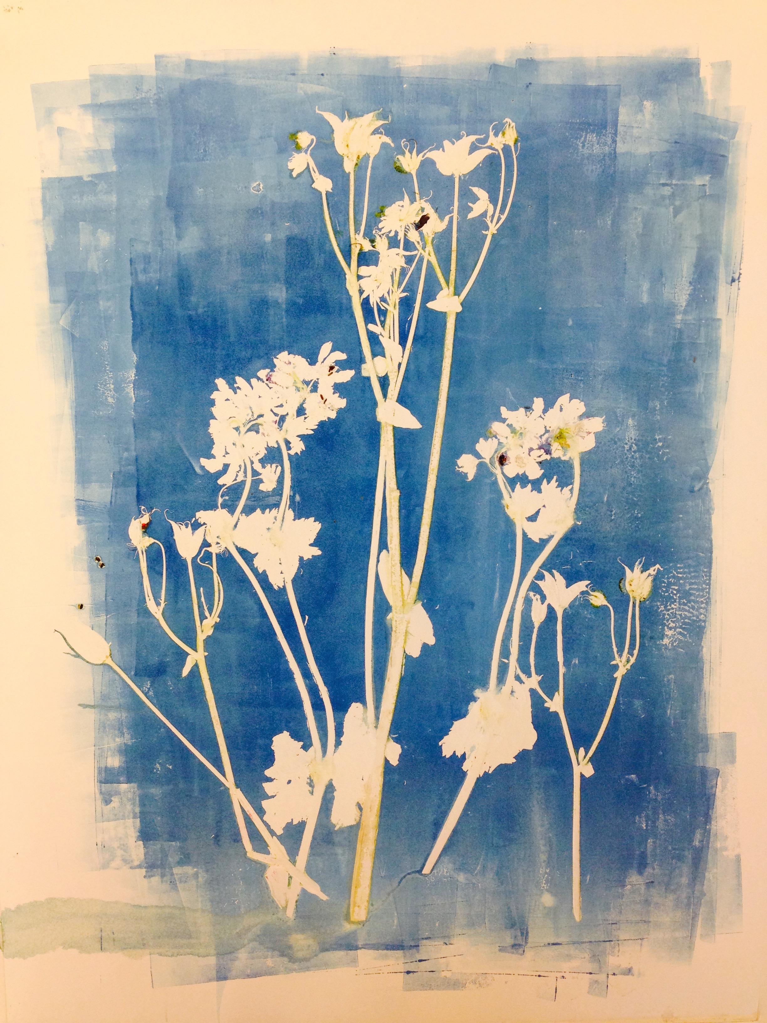 Floral mono - print