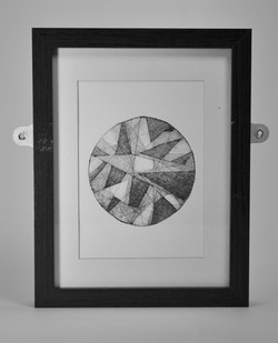 Geometric circles (framed)