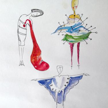 Bourgois inspired illustrations