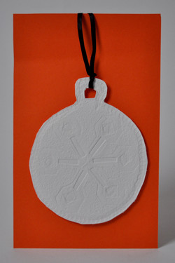 Christmas Bauble (embossed)