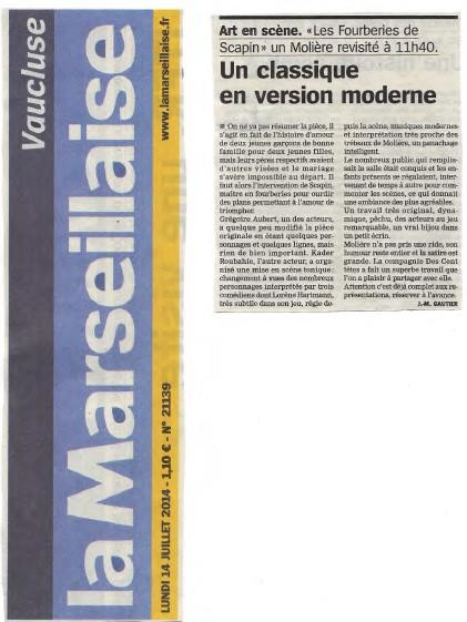 La Marseillaise - 14.07.2014