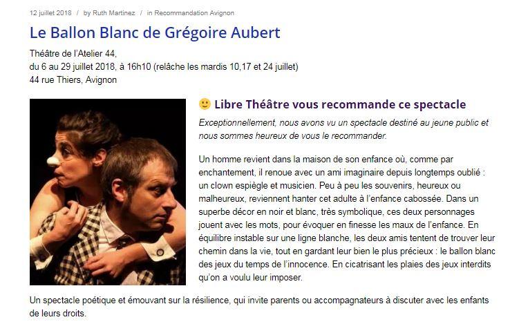Libre Théâtre 12.07.18