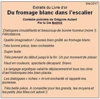 """""""Du fromage blanc dans l'escalier"""" par la Cie Batifoll"""