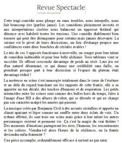 REVUE DU SPECTACLE FC P2