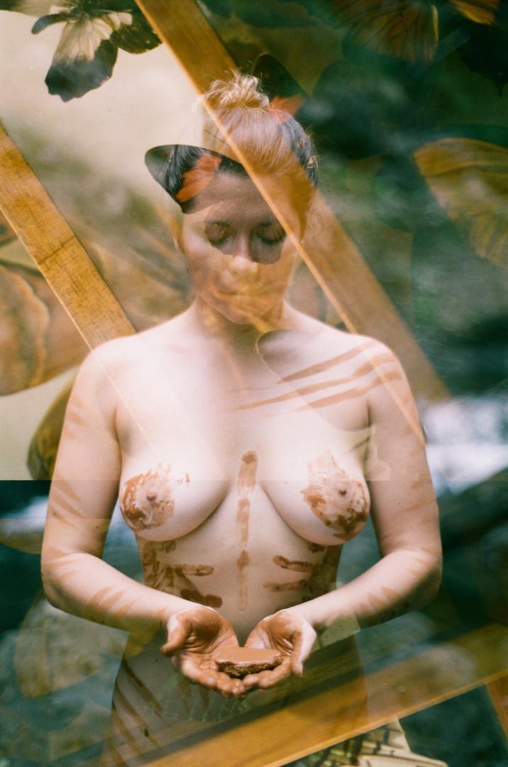 Double exposure Portra 400 with @sarineinnadream