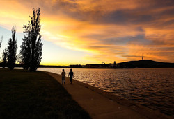Lake Burley Griffin Sunset