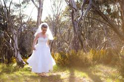 Kim wedding dress hike