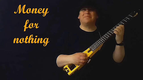 "Demonstration by me playing "" Money for Nothing "" on the electric guitar in the guitar lesson."