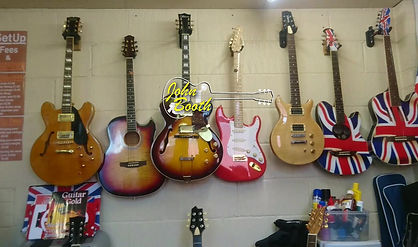 The guitar studio in Maidstone where I teach both the acoustic and electric guitar.