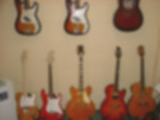 Some of the guitars that I give guitar lessons with.
