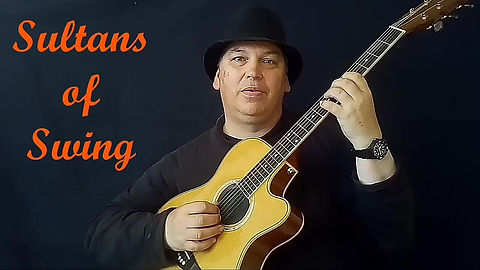 """Sultans of Swing"" played on the acoustic guitar. Another example of the kind of songs that we play in the lessons here in Maidstone."