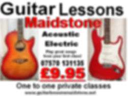 My advert showing the price of the guitar lessons.