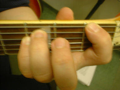 This is the ideal hand position to play the guitar. I always teach this shape in the guitar lessons.