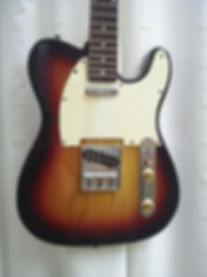 "Telecaster style electric guitar for sale for students of ""Guitar Lessons Maidstone"". Includes brass saddle and super low action for easy playing. This guitar is perfect for a beginner or professional player."
