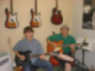 Mat and myself playing together during a guitar lesson in Maidstone.