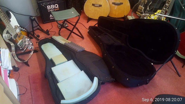 This picture shows the best kind of guitar cases.