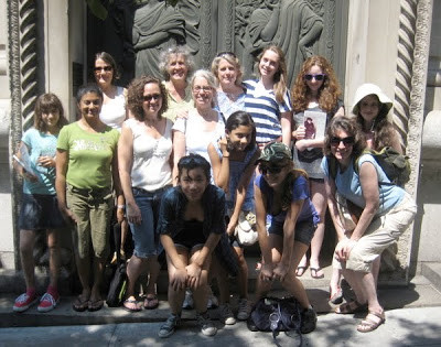 Terrific girls and Moms and women's history tour