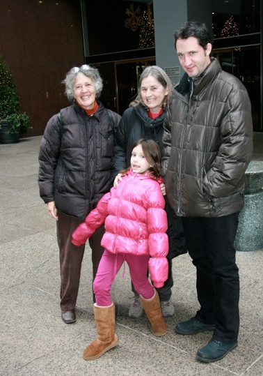 Penny Colman with her family in New York City at Radio City Music Hall