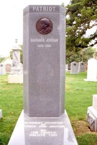 Barbara Jordan full grave medium