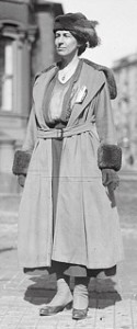 The grown-up Nora: She was the first woman  to graduate from Cornell University. Like her grandmother's and mother she was an activist for women's rights.