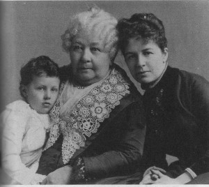 """Nora, ECS, Harriot, 1888. Nora referred to ECS as """"her Queenmother"""" and embraced her as the """"guide and philosopher"""" who taught her """"the facts of life,"""" including the """"history of woman and of her long subjection."""""""