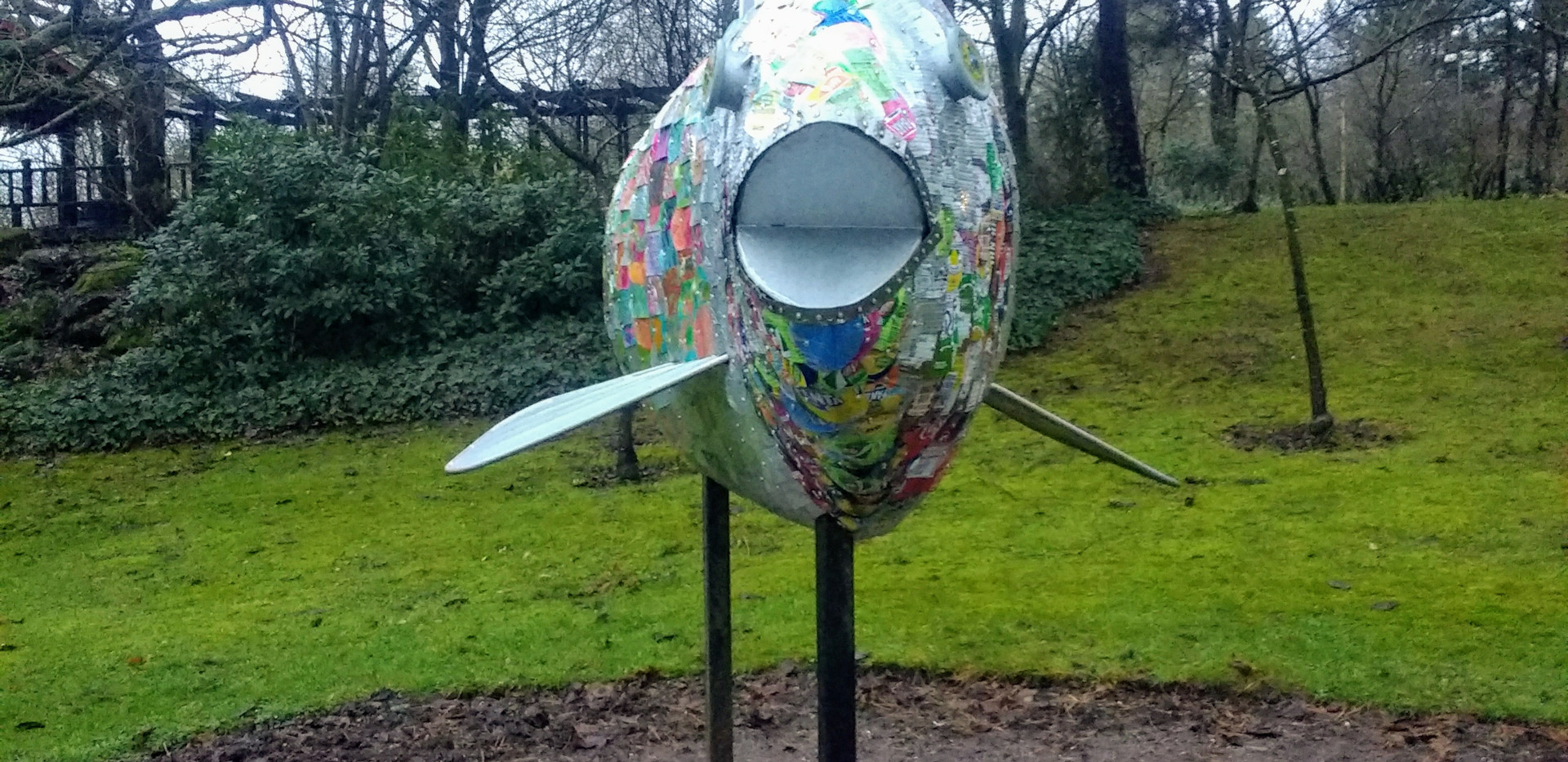 Recycled tin can fish
