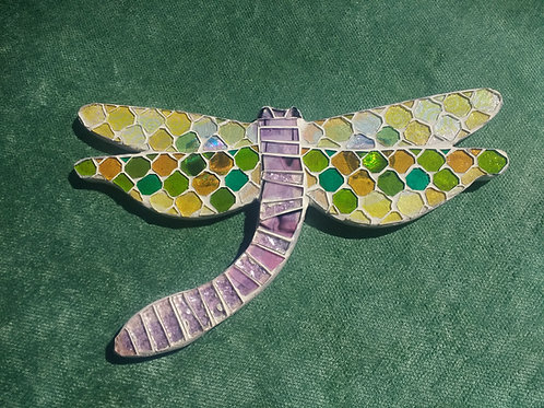 GLASS MOSAIC DRAGONFLY
