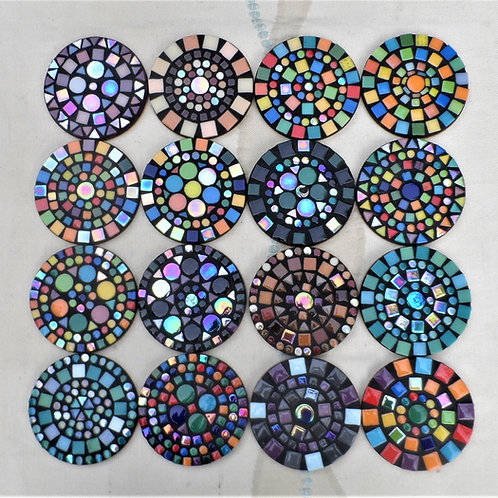 ROUND COASTERS (multi coloured)