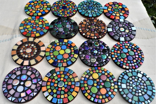ROUND COASTERS (choose your colours and design)