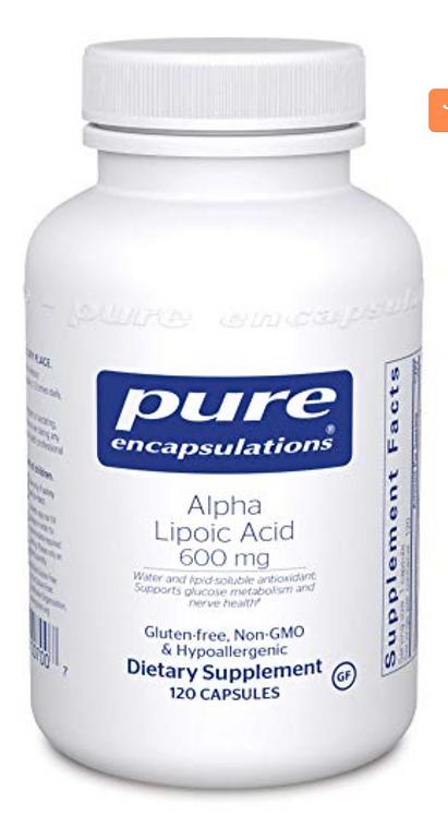 Pure Encapsulations Alpha Lipoic Acid (600mg) - 120 Capsules