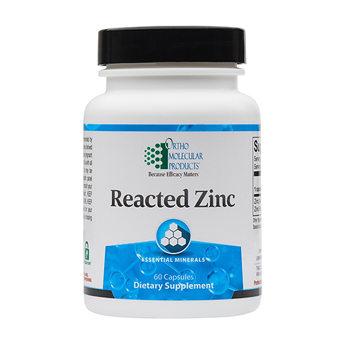 Reacted Zinc by Ortho Molecular Products - 60 capsules