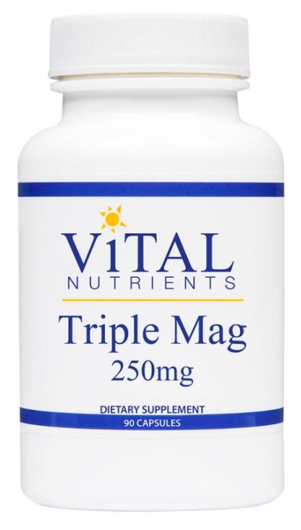 Vital Nutrients Triple Mag 250mg - 90 Capsules