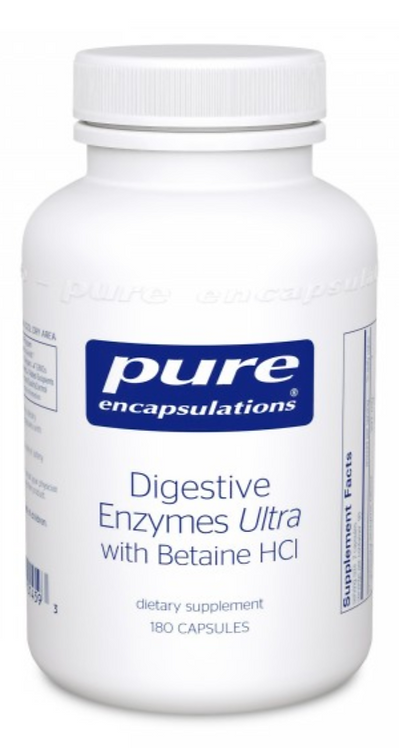 Pure Encapsulations Digestive Enzymes Ultra with Betaine HCI - 180 capsules