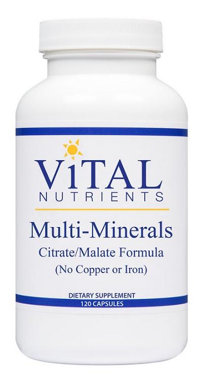 Vital Nutrients Multi-Minerals Citrate/Malate Formula - 120 capsules