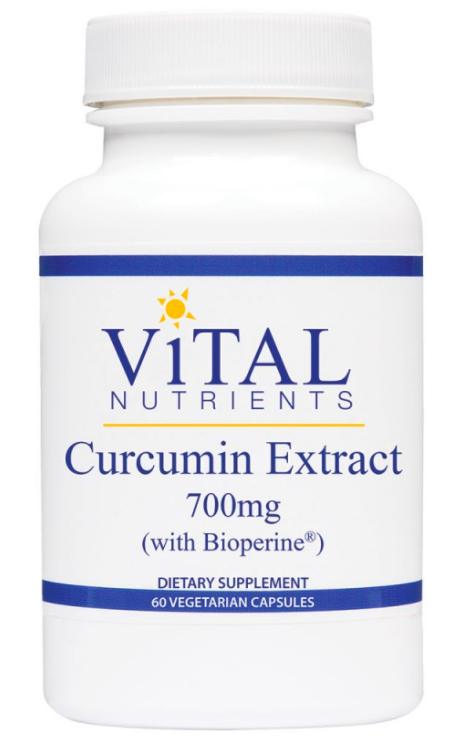 Vital Nutrients Curcumin Extract 700mg - 60 Vegetarian Capsules