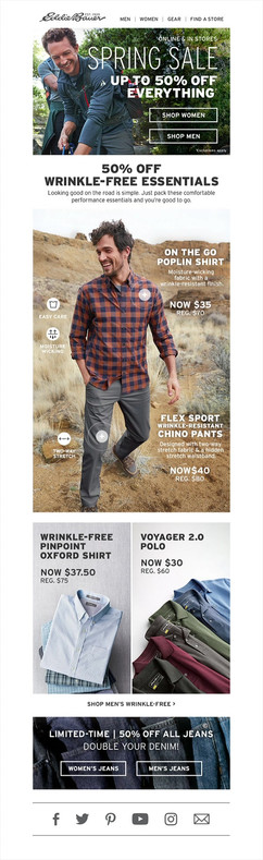 Men's Wrinkle Free email
