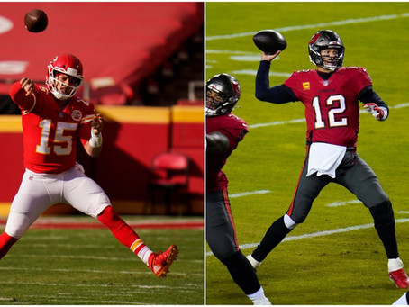 Brady and Mahomes will face off in Super Bowl 55