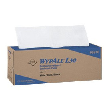 WypAll L30 Wipers, POP-UP Box, 9 4/5 x 16 2/5, 120/Box, 6 Boxes/Carton