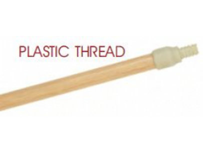 "54"" Wood Handle with Plastic Thread"