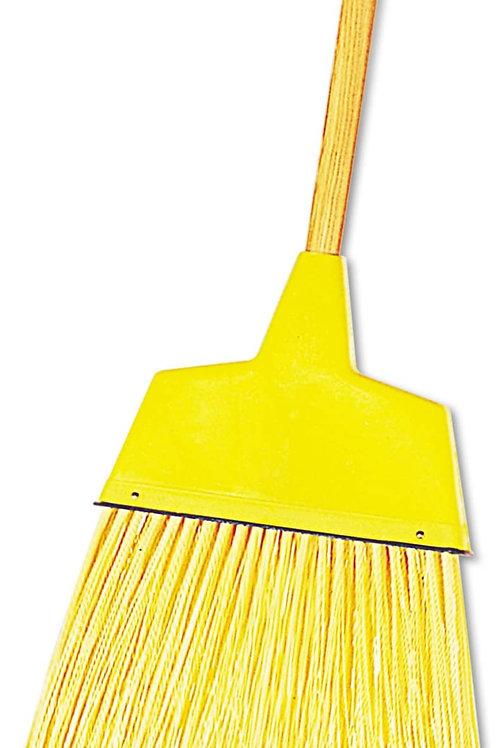 Boardwalk 932ACT Angler Broom, Plastic Bristles, 53-Inch Wood Handle, Yellow