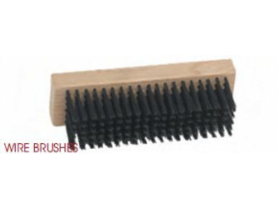 LCB 1161SS - Straight Black Wire Brush (Stainless Steel)