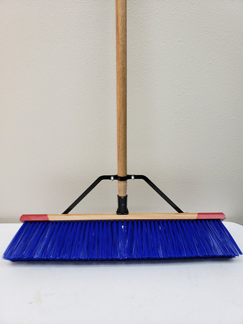 "94 Series Complete - 18"" 24"" Stiff Bristled Broom Big Blue Complete"