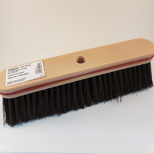 "471012 Head Only - 12"" Upright Plastic Block Fine/Medium Combo Bristle Broom"