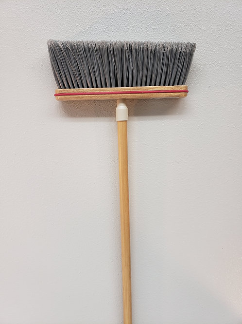 "118-4 Complete - 9"" Angled Smooth Sweep Upright Broom"