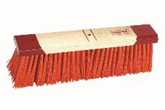 "9618C - Orange Broom, 18"" COMPLETE WITH HANDLE AND BRACE"
