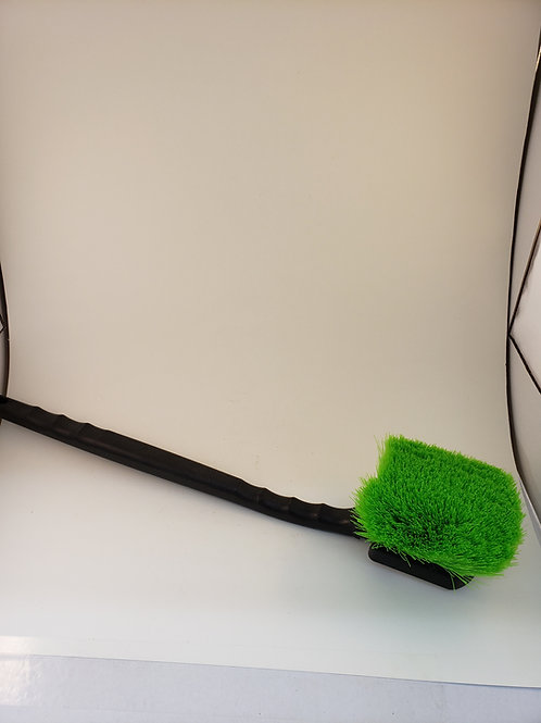 "231 - 20"" Plastic Multi-purpose Gong Scrub Brush - Green Soft Synthetic"