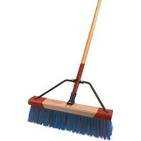 "9418 - 18"" Stiff Bristled Broom Big Blue Head Only"